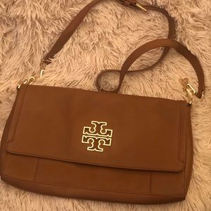 Rare! Tory Burch Britten Fold Over Crossbody Purse